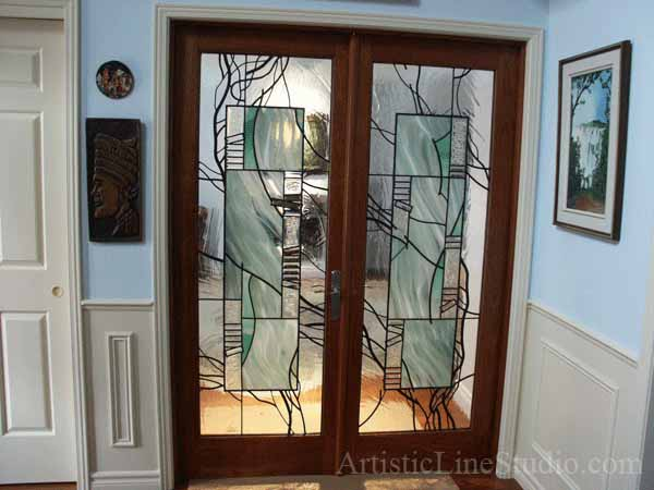 Interior Doors with Stained Glass 600 x 450
